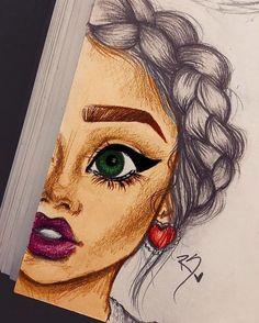 Pencil Drawing Women Drawings – Pencil Drawing Case Studies – Beautiful Words – My CMS Girl Drawing Sketches, Girly Drawings, Cool Art Drawings, Pencil Art Drawings, Amazing Drawings, Woman Drawing, Drawing Women, Drawing Ideas, Cute Drawings Tumblr