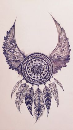 Dreamcatcher with wings