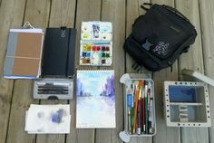 Field artist bag contents and how to put together your own watercolor sketchbook