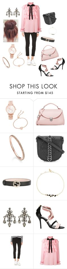 """Georgette Style..**"" by yagna ❤ liked on Polyvore featuring Michael Kors, The Cambridge Satchel Company, Monica Vinader, Alexander Wang, Gucci, Loren Stewart, Oscar de la Renta, Pierre Hardy, Dsquared2 and vintage"