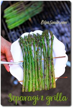 Asparagus baked on the grill