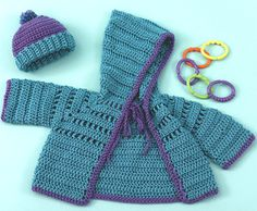 free crochet pattern for this baby hoodie-beanie set!!