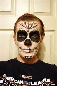 Minus the makeup this looks SO much like G that I almost messaged him XD Candy Skull Makeup Men Candy Skull Makeup, Candy Skulls, Halloween 2014, Halloween Horror, Cool Costumes, Halloween Costumes, Halloween Stuff, Costume Ideas, Fiesta Theme Party