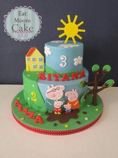 Peppa Pig 2 tier cake x