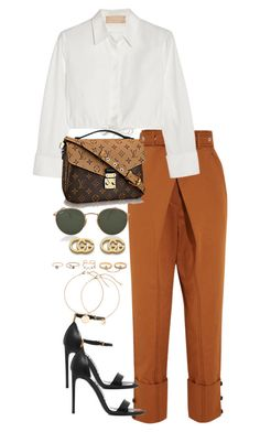"""""""Untitled #4630"""" by theeuropeancloset ❤ liked on Polyvore featuring Proenza Schouler, Alaïa, Ray-Ban, Tom Ford, Gucci and LULUS"""