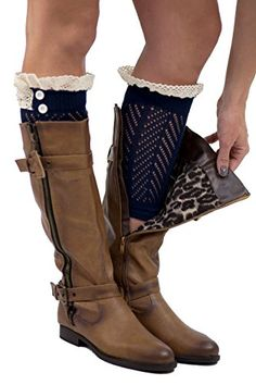 7241abb47e4d The Original 2 Button Lace Boot Cuffs Aqua Boutique Socks Brand by Modern  Boho