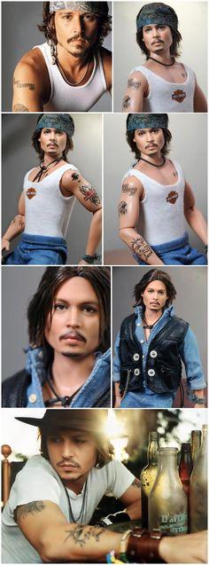 Johnny Depp doll (repainted by Noel Cruz)