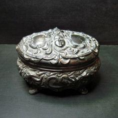 Wicked cool Antique Art Nouveau Jewelry casket, $125.00