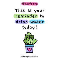 How many cups or ounces do you drink a day?Do you have a special water bottle?)Tag someone else that needs the reminder! Positive Vibes, Positive Things, Quotes Positive, Positive Attitude, Positive Thoughts, Motivational Quotes, Inspirational Quotes, Water Reminder, Chibird