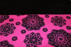 Hot Pink and Black Spiral KinderMat Nap Mat Cot Cover Daydreamer with a Black Minky Headrest by YarnkeeDoodle on Etsy