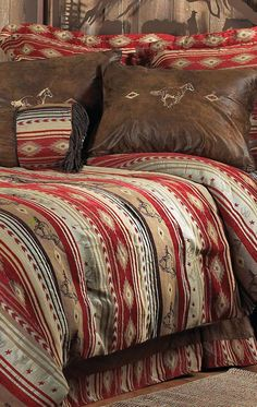 Flying Horse Western Bedding Set