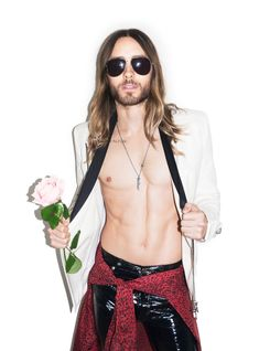 Actor and Thirty Seconds to Mars frontman Jared Leto shows off his rock 'n' roll edge in new outtake photos by photographer Terry Richardson.