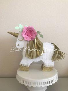 Unicorn Piñata Gift Set/ Unicorn Centerpiece/ Unicorn First