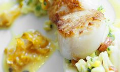 Paula DaSilva's Sauteed Maine Scallops with Carambola Sauce Healthy Latin Recipes by Latin Chefs Across the Country