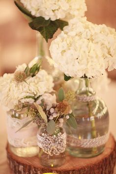 mismatched decorated vases