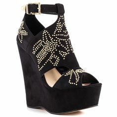 Betsey Johnson Laney Black Suede