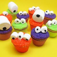Monster Party - cute, colorful, & easy cupcakes!