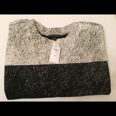 Metallic Banana Republic Sweater Sz M New with Tags, metallic grey and black sweatshirt-style sweater from Banana Republic. Fits true to size. Banana Republic Sweaters