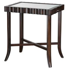 Uttermost Karisa Dark Walnut Accent Table