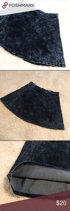 Mineral Wash Denim Skirt A-Line Mineral wash denim skirt, unlined. Trendy, size medium by Special A. 2 available. Feel free to ask any questions. Special A Skirts A-Line or Full