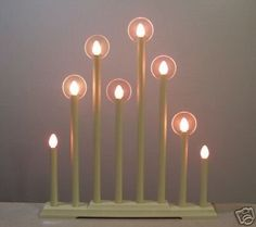 Vintage 8 Light Christmas Candle Candolier Halo Lights! (05/10/2008)