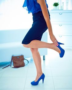 Blue heels for every outfit