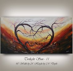 CONTEMPORARY ART Large heart painting huge by ContemporaryArtDaily