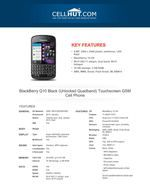 BlackBerry Q10 Black Touchscreen GSM Cell Phone-features-specification-at cellhut