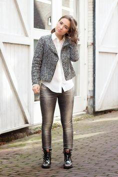 Fashion blogger Fleur (www.fleursophia.com) wearing the Megamok 4001OS Silver, great outfit!