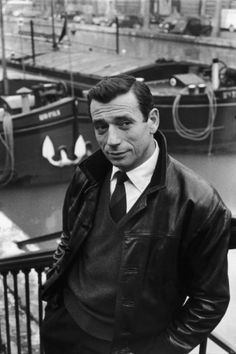 YVES MONTAND (1921-1991) was born Ivo Livi in Monsummano Terme, Italy. He was an Italian/French film actor & singer; he did a few American films. He was married to Simone Signoret from 1951-1985 (her death); he later married Carole Amiel (1987–1991; his death-they had 1 daughter) He had well-publicized love affair with Marilyn Monroe. (photo 1959)
