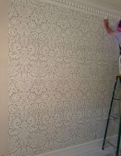 Farrow & Ball's iconic Silvergate wallpaper