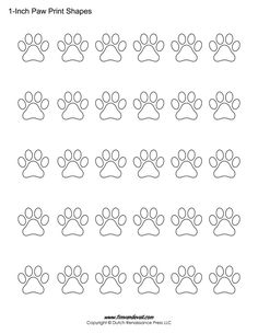 photo regarding Printable Paw Print referred to as 15 Easiest Paw Print printable Sheet photographs inside 2017 Canine paws