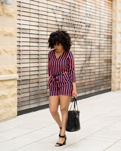 """690 Likes, 63 Comments - That's Chelsea™ (@thatschelsea) on Instagram: """"Not sure how this outfit happened today because I rarely wear stripes and I rarely wear shorts.…"""""""