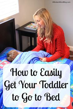 Toddler sleep training can be challenging as they transition from baby sleep rhythms to toddler sleep rhythms. Learn how to put your toddler to bed easily