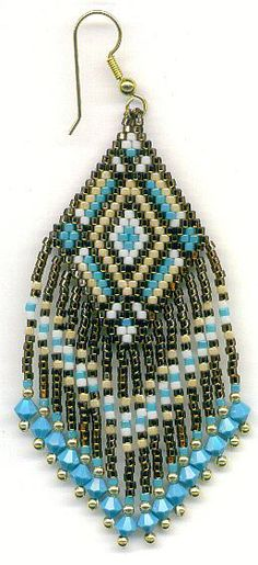 bead earrings with their hands
