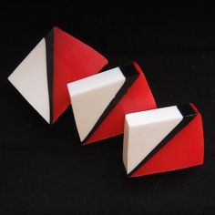 Peppermint, Shea Butter and Glycerin Red, Black, and White Soap with Free Shipping to the US