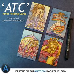 """Have you ever thought about trading your art? Artist Trading Cards are small collectible pieces of original artwork traded between artists and art lovers. In our this studio feature artist Anna-Lise explores the world of """"ATCs"""" and how to make and use Artist Trading Cards"""