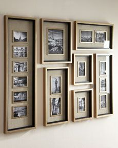 Photo Collage Frames On Wall 49 Extra Horchow Massena Multi Photo Frame Collection Collage Mural, Frame Wall Collage, Collage Picture Frames, Frames On Wall, Collage Ideas, Picture Frames On The Wall Stairs, Poster Frames, White Frames, Collage Maker