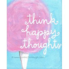 Think happy thoughts by whimsystudios on Etsy, $18.00