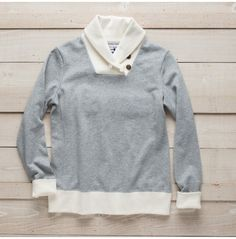 Women's Reliance Garments Contrast Shawl-Collar Pullover