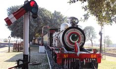 A narrow-gauge steam engine which is atleast a hundred years old, these track are no more in use in Pakistan.