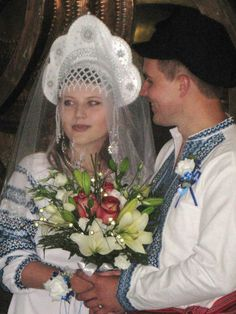 Russian wedding in traditional style Russian Wedding, Crown, Weddings, Traditional, Dresses, Style, Fashion, Russia, Wedding