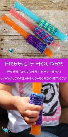 Freezie holders - quick and easy free pattern!