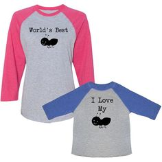 We Match World's Best Aunt (Ant) I Love My Aunt (Ant) Women's 3/4... ($45) ❤ liked on Polyvore featuring tops, t-shirts, silver, women's clothing, t shirts, 3/4 sleeve baseball shirt, vintage t shirts, vintage baseball shirts and baseball shirts