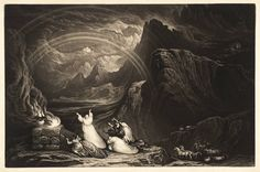 John Martin, 'Plate from Illustrations to the Bible: The Covenant' published 1832 Christian Religions, John Martin, Art Database, Bible Art, The Covenant, Art Google, Great Artists, Art Images, Old Things