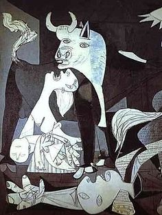 Pablo Picasso - Guernica détails. Saw it at the Museo Reina Sofia in Madrid in 2009... #immense #intense #neverforget