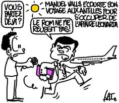 Valls écourte aux Antilles http://undessinparjour.wordpress.com/2013/10/18/cocktail-explosif/