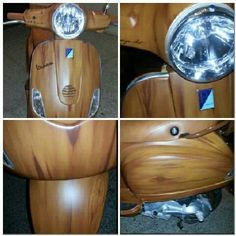 Airbrush Vespa effect wood by M.P Design Art