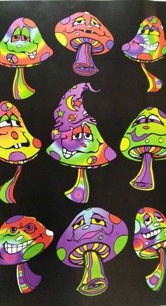 Psychedelic Posters | Blacklight Poster Psychedelic Mushroom Mania | eBay
