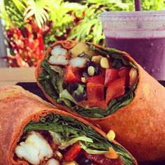 It's a beautiful day to be happy  So get on out there n enjoy it !!! #instafood  #staug #staugustine #eatlocal #staugfoodies #foodpic #foodie #wellness #flaglercollege #healthyfood #salad #wrap #smoothie #fitnessfood #vegan #paleo #glutenfree #eatclean #freshfood #health #workout #healthyliving #yummy #organic #bulldog #yoga #floridashistoriccoast #fitness #nom @staugustinebuzz by cravefoodtruckstaug